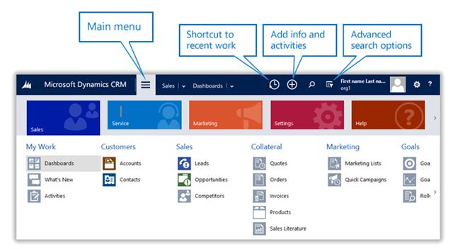 New Navigation In Dynamics Crm 2015 Spring Release Online
