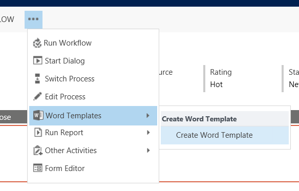 create word templates