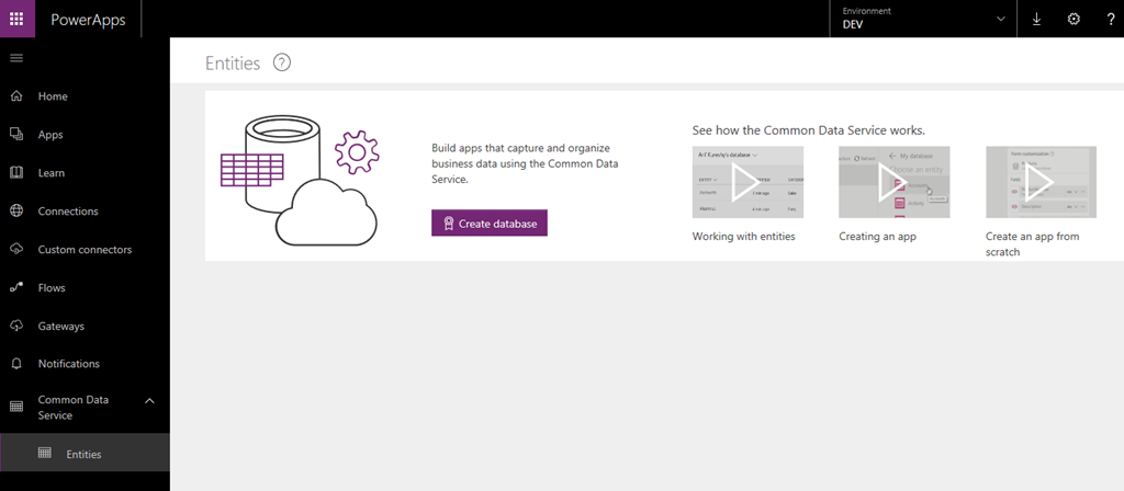Creating Your First Common Data Service Cds Database Dynamics
