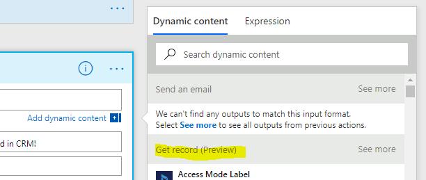 Dynamics 365 notification to Skype using Flow   Dynamics 365
