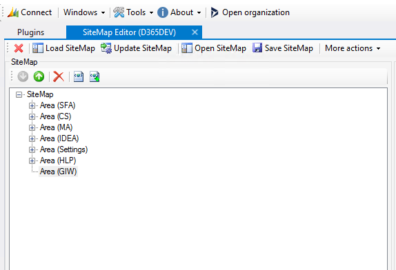 New SiteMap Area not showing - Microsoft Dynamics CRM Community